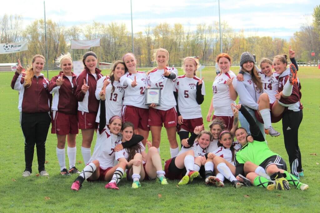 NHTI Women's Soccer team