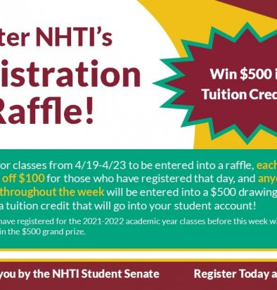 Registration Raffle: Enter to Win $500 Tuition Credit